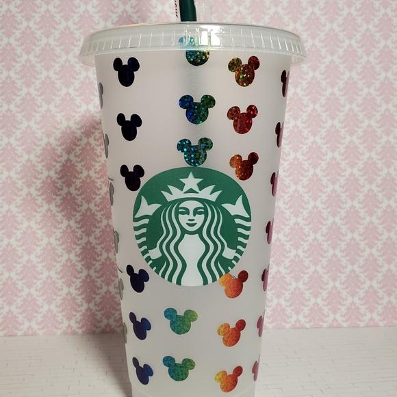 Custom Starbucks tumbler rainbow mickey